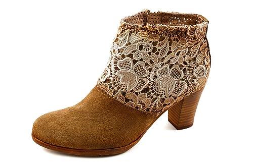 felmini Mujer Western Botines marrón coñac, Color Marrón, Talla 37 EU: Amazon.es: Zapatos y complementos