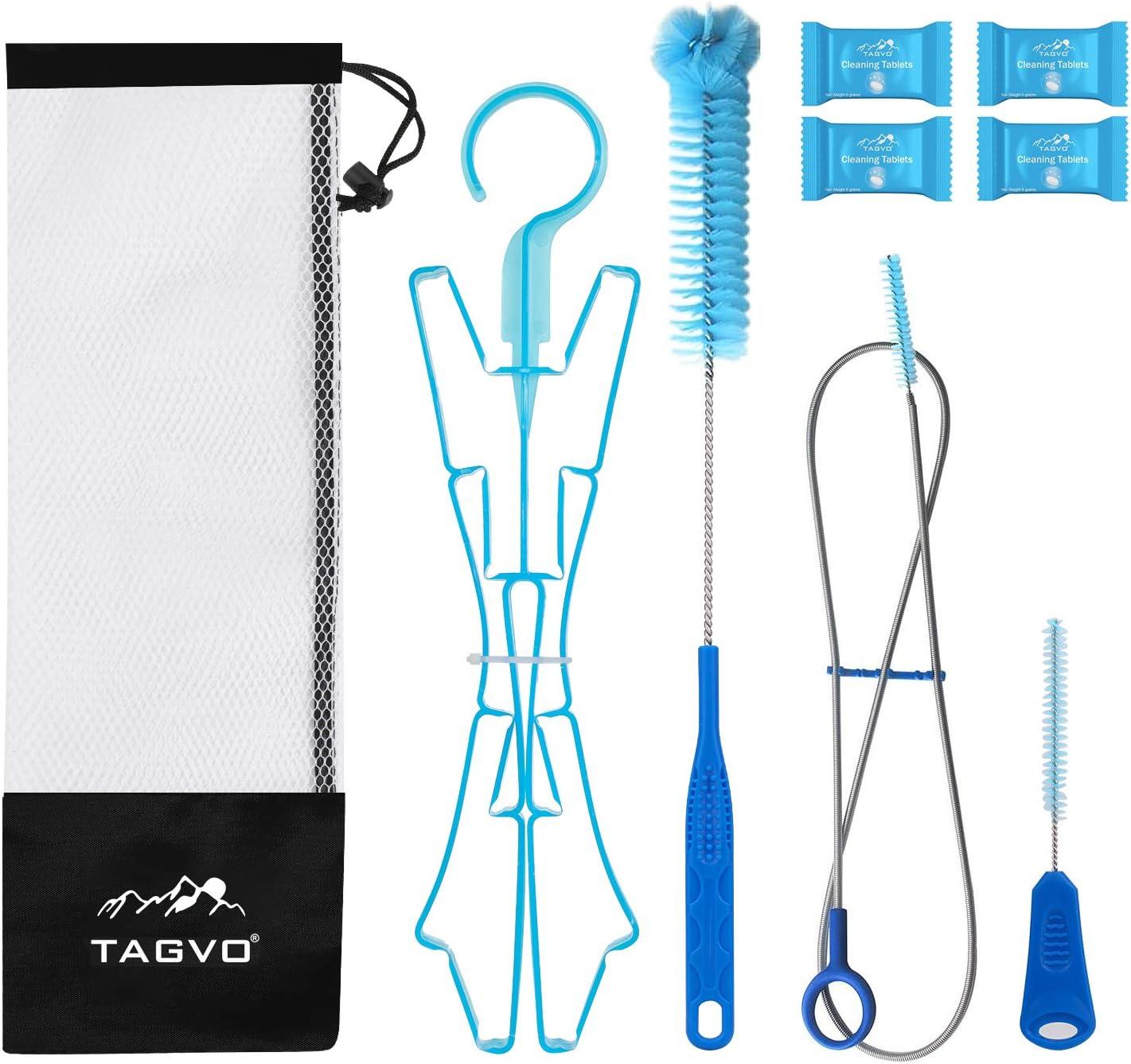 Filo Spazzola Blu LIOOBO 4pcs Kit di Pulizia della vescica dellAcqua idratazione Pacchetto di Pulizia della vescica Universale per Serbatoio idratazione