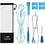 TAGVO Hydration Bladder Tube Brush Cleaning Kit, 6 in 1 Water Bladders Cleaner Set - Long Brush, Small Brush for Bite Valve,