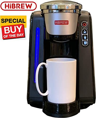 HIBREW Water Automatically Refillable Programmable Single Serve Single Cup Coffee Maker Brewing System Coffee Machine Brewer Auto Waterline