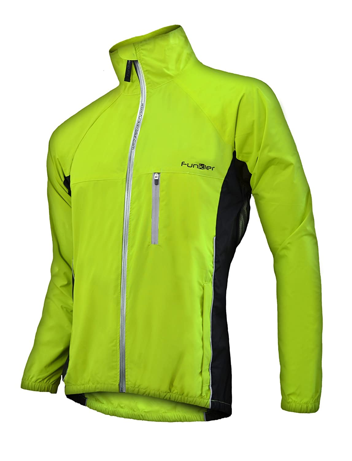 Amazon.com : Funkier Bike Men's Cycling Rain Jacket, Reflective ...