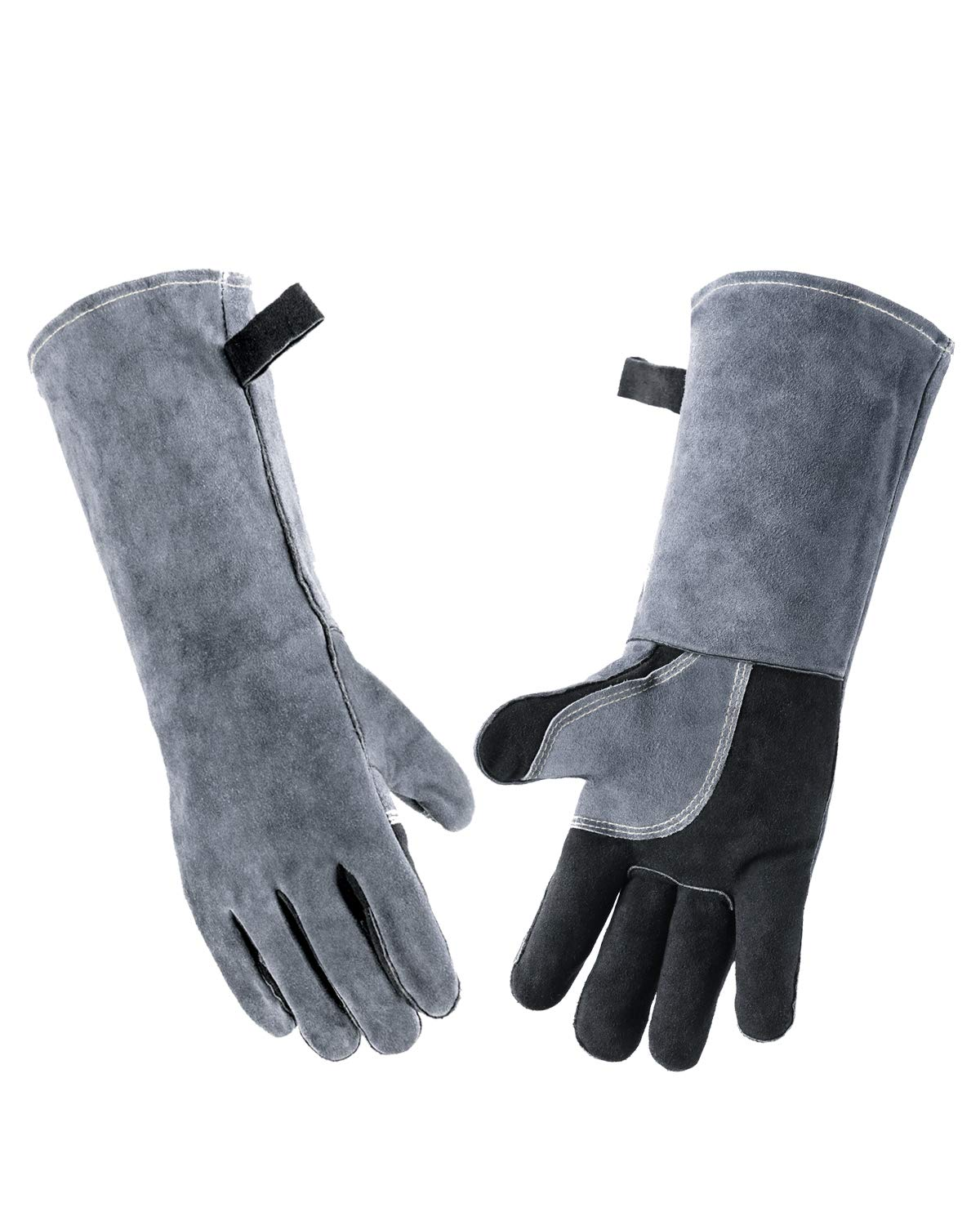 Wanyi 16 Inches 932℉/500℃ Leather Welding Gloves for Extreme Heat Resistance by wanyi