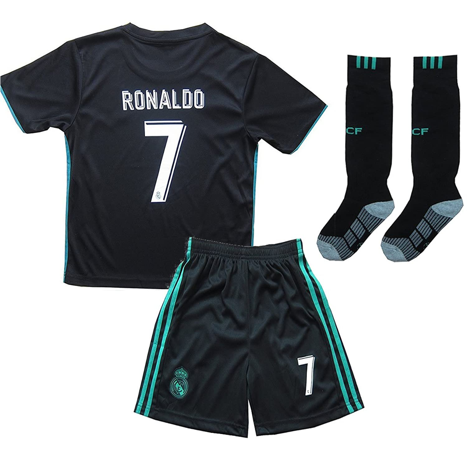 quality design f932c d27e6 Xpbowy Youth Real Madrid #7 Ronaldo Kids Away Soccer Jersey ...