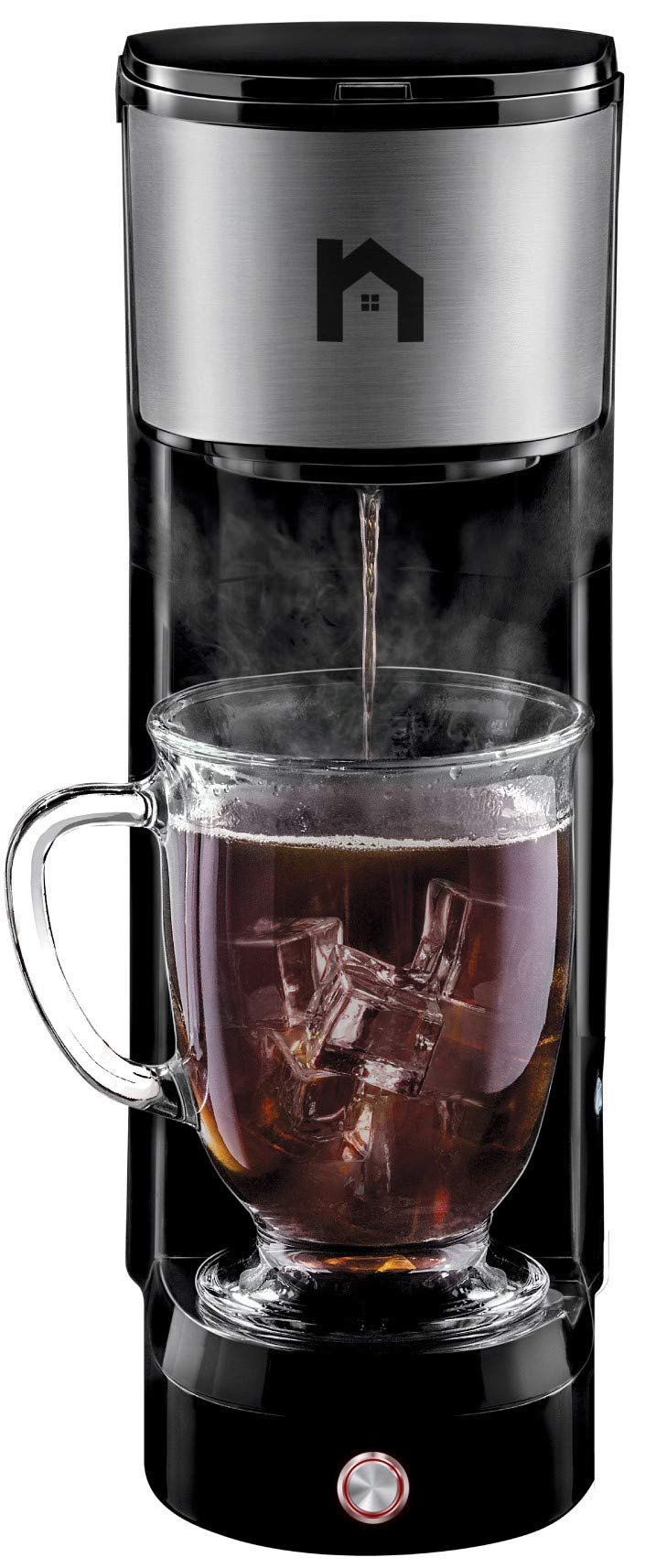 New House Kitchen Maker K-Cup Pod Brewer Instant Reboil Single Serve, Free Filter For Use with Grounds, Coffee on Command, Mug NOT Included – Compact,