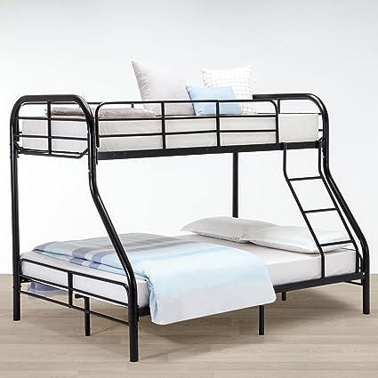 Amazon.com: New Metal Twin over Full Bunk Beds Ladder Kids Teens ...