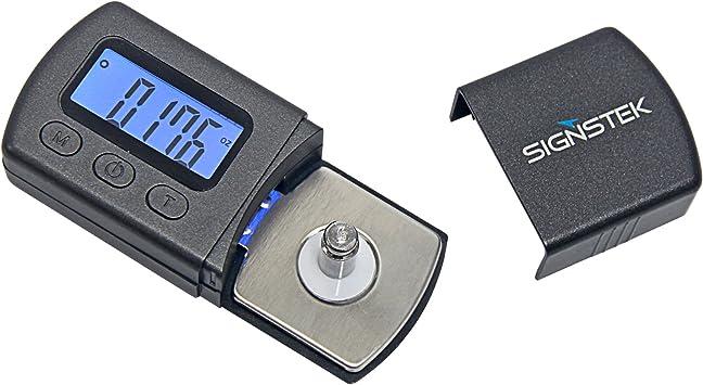 Signstek - Báscula digital para pesar agujas de tocadiscos (pantalla ...
