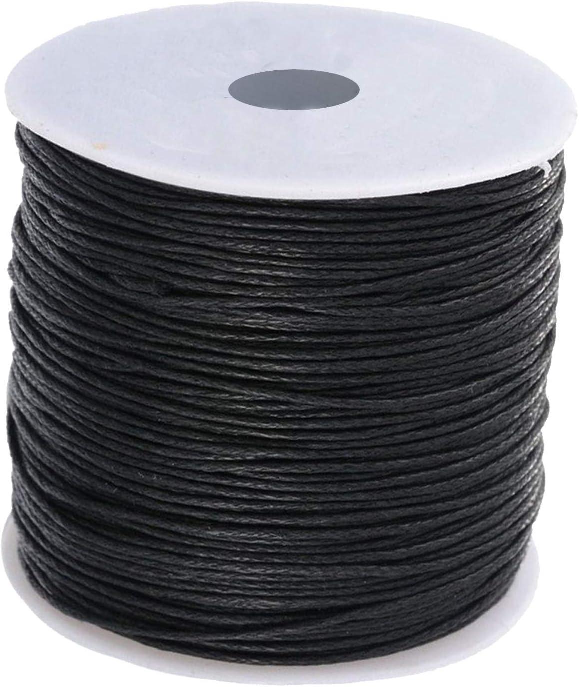 Cordón de algodón encerado negro 2mm - 100m Rollo, Pulseras ...