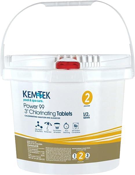 Amazon.com: kem-tek Power 99 cloro en tabletas en 2 Bolsas ...