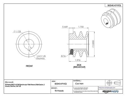 Tb Woods 2bk2512 Fhp Bored To Size V Belt Sheave B Belt Section 2