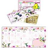 Keskin Color 830130-06 Haftalık Planner/Bloknot, Çiçek, 12x26 cm