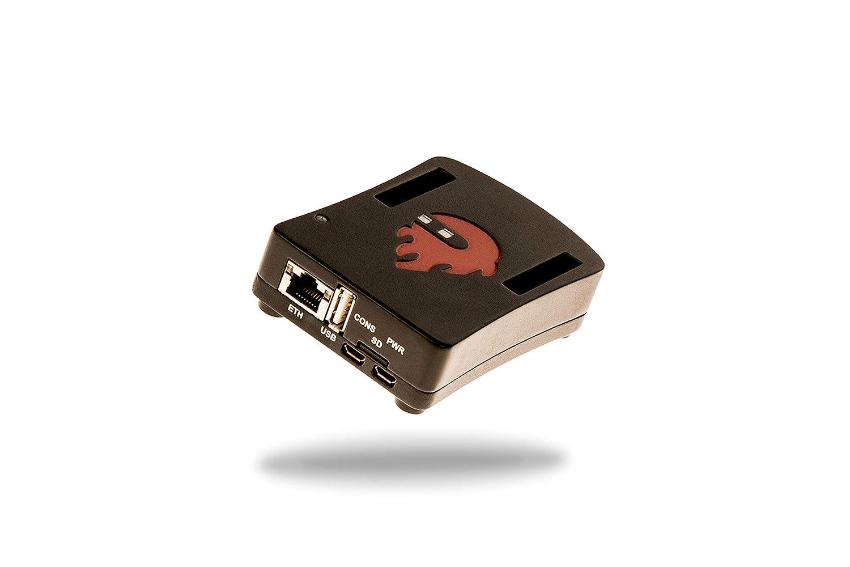 Red Pitaya 010/Carcasa de aluminio color rojo y negro
