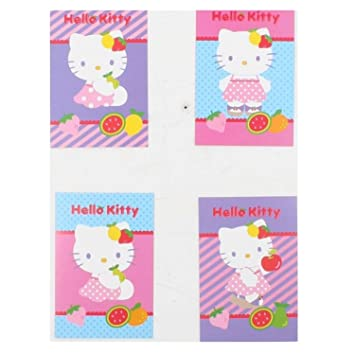 Hello Kitty Fruity Invitation Cards 4 Designs With Envelopes