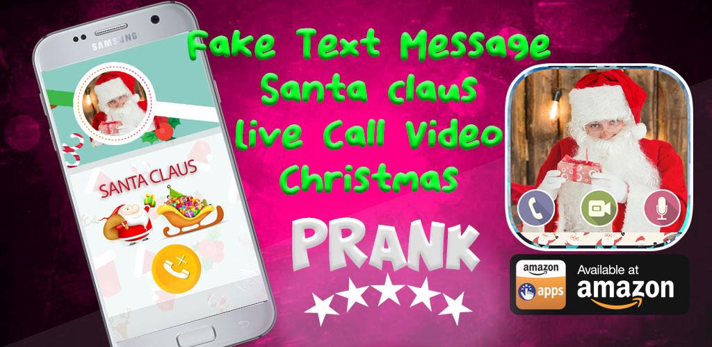 Amazon com: fake text message - santa claus live call video