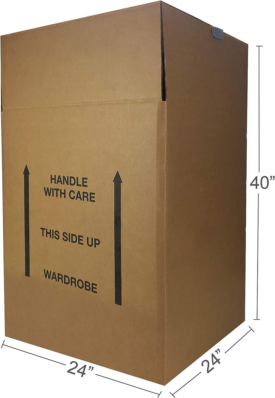 """AmazonBasics Wardrobe Clothing Moving Boxes - 24"""" x 24"""" x 40"""", 6-Pack"""