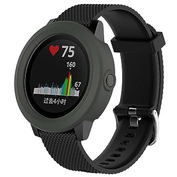 Ruentech para Garmin VivoActive 3 Banda Funda Carcasa Suave Silicona Caso Cove Funda Pantalla de Repuesto para Garmin vivoactive 3 GPS Reloj ...