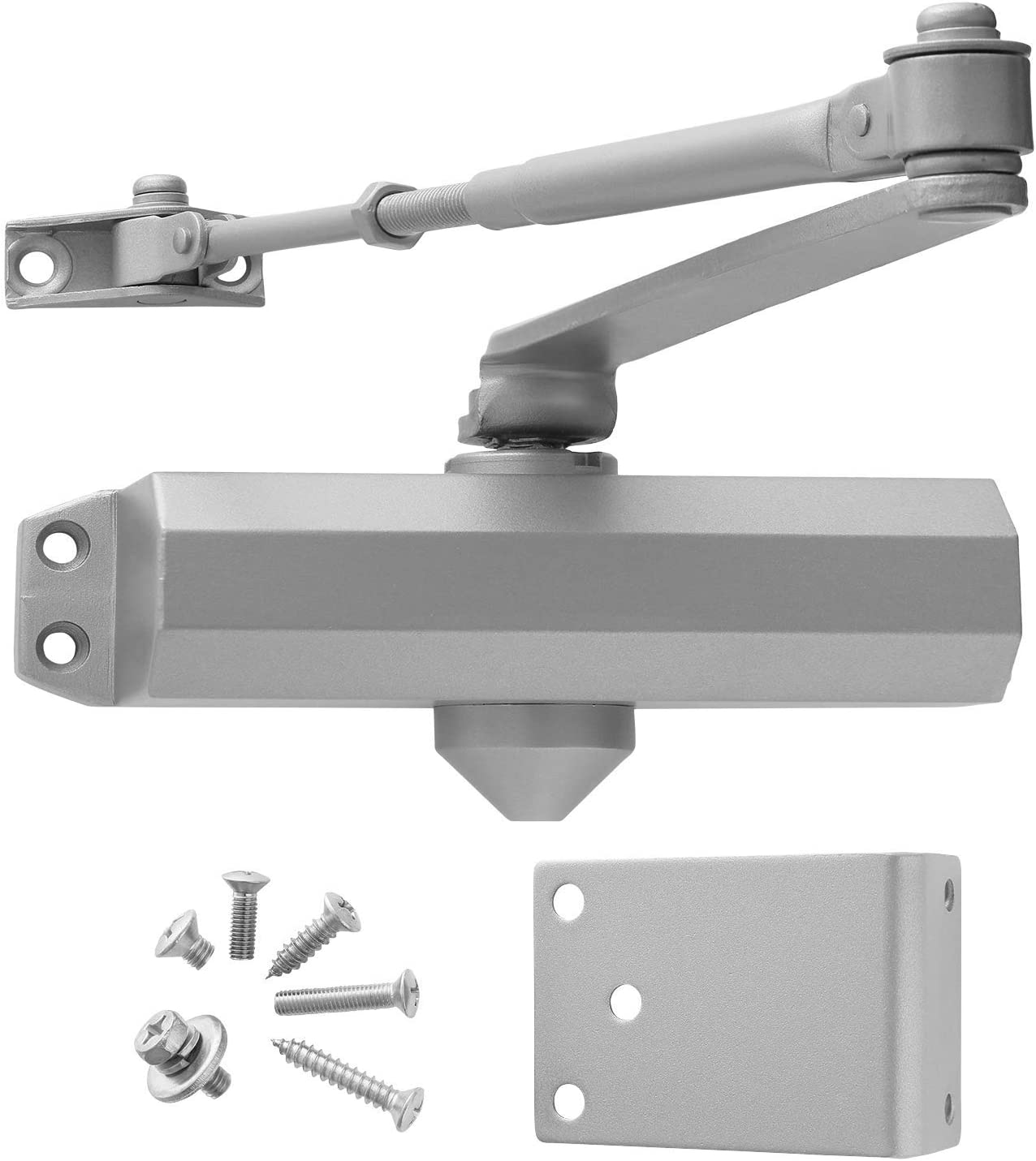 Standard Duty Adjustable Commercial Door Closer Power Size #3 for Interior and Light Commercial Doors by Lawrence Hardware LH303 Automatic Closing and Latching
