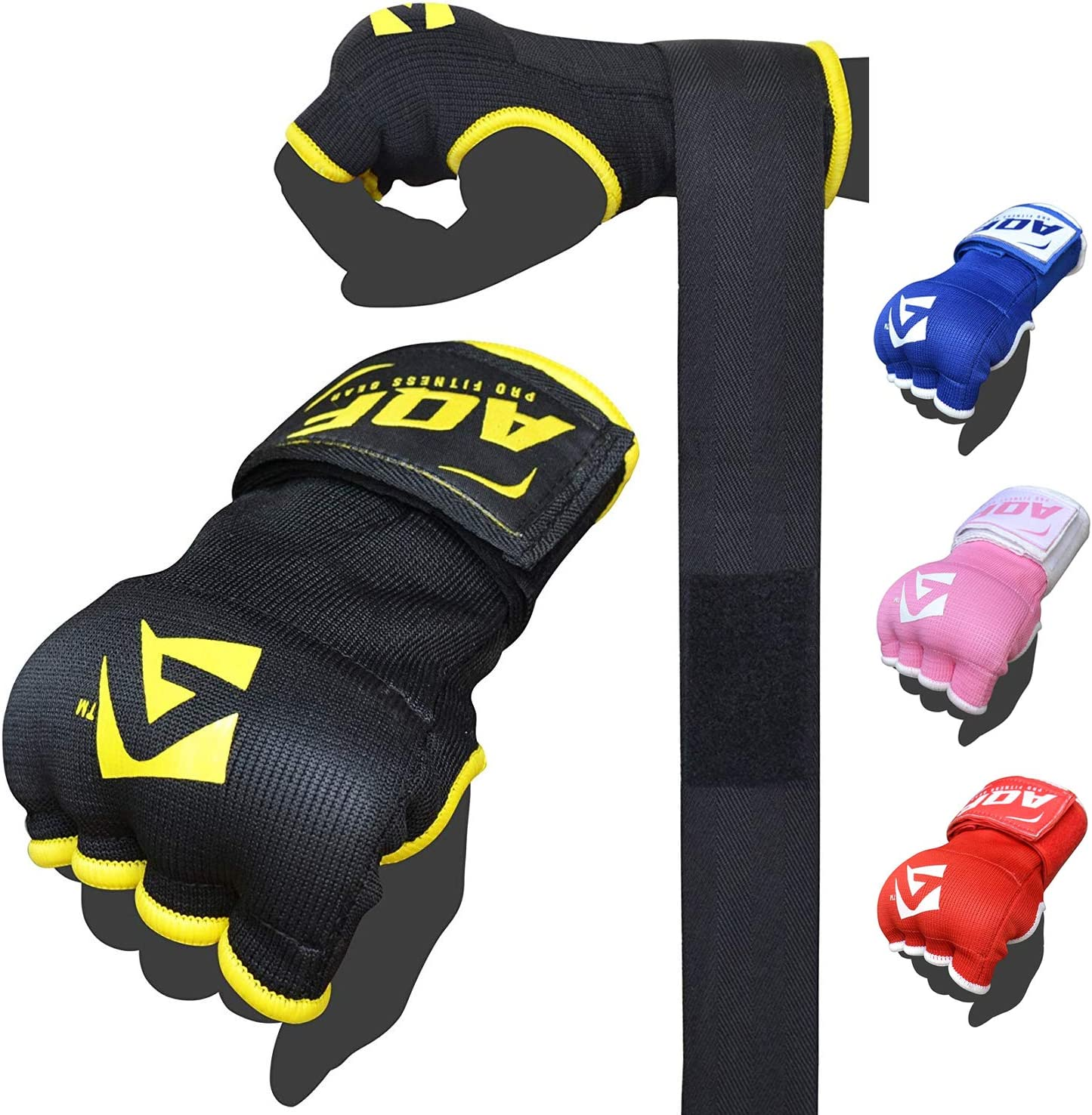 Red Inner Gloves Hand Wraps Boxing Gel Padded MMA Fight Protector Bandage Kick