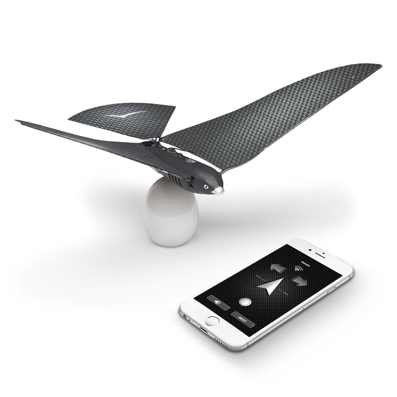 BIONICBIRD THE FLYING APP - PREMIUM PACKAGE - Smart Flying Robot + Egg Charger + Extra pair of wings by BIONICBIRD THE FLYING APP