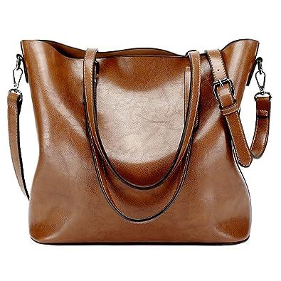 4396938f4c Sacs à main Femme, Supstar sacs à bandoulière PU cuir Poignée supérieure  Cartable Messager Sac