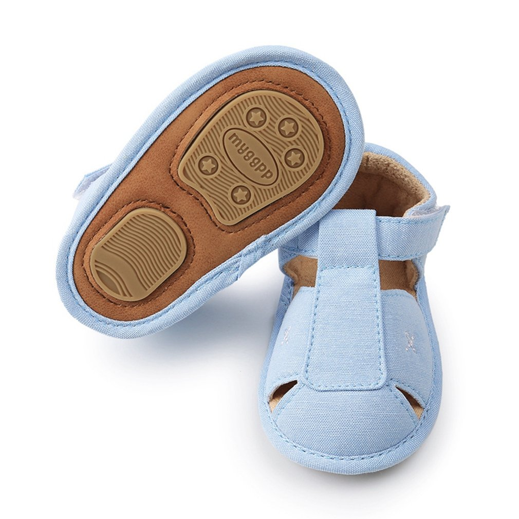 Infant Baby Boys Girls PU Leather Rubber Sole Summer Sandals First Walker Crib Shoes