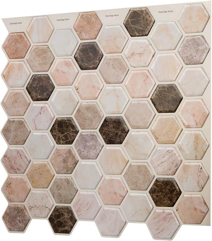 placa de mosaico espejo piedra natural cocina m/ármol natural ba/ño color blanco y madera blanca para pared revestimiento de ba/ñera Mosaico de azulejos autoadhesivos