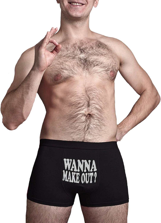 Wanna Make Out ? Innovative Gift Herr Plavkin Cool Boxer Briefs Birthday Present Novelty Item.
