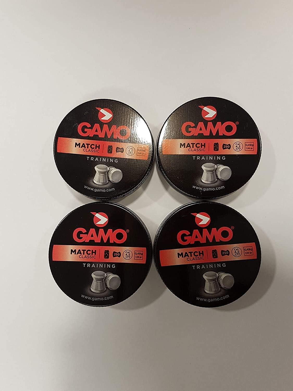 Gamo - Munición Match Diabolo, Color Plata, Cal. 4,5 mm, 200101: Amazon.es: Deportes y aire libre