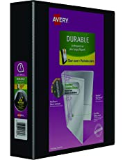 "Avery Durable View Binder, 2"" Slant Rings, 500 Sheet Capacity, PVC Free, Black (17031)"