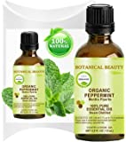 Botanical Beauty Therapeutic Grade Organic Peppermint Essential Oil, Undiluted, 0.5 fl. oz. / 15 ml