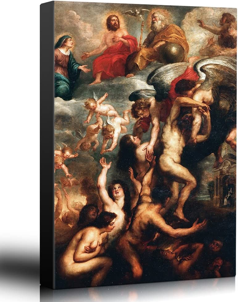 """Wall26 Canvas Art Oil Painting of /""""Fall Of The Rebel Angels/"""" 24x36 inches"""