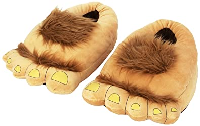 What? improbable! monster slippers for adults with