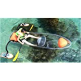 ClearYup 11 Feet Kayak Transparent Crystal Clear 2-Person Wave Kayak Set With Paddle Plastic Polycarbonate Canoe