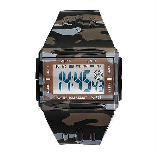 LANCARDO Reloj Deportivo Digital Cronógrafo Dial Luminoso Pulsera Electrónica Multifunción Alarma Calendario para Deportes Exteriores Chulo para Hombre, ...