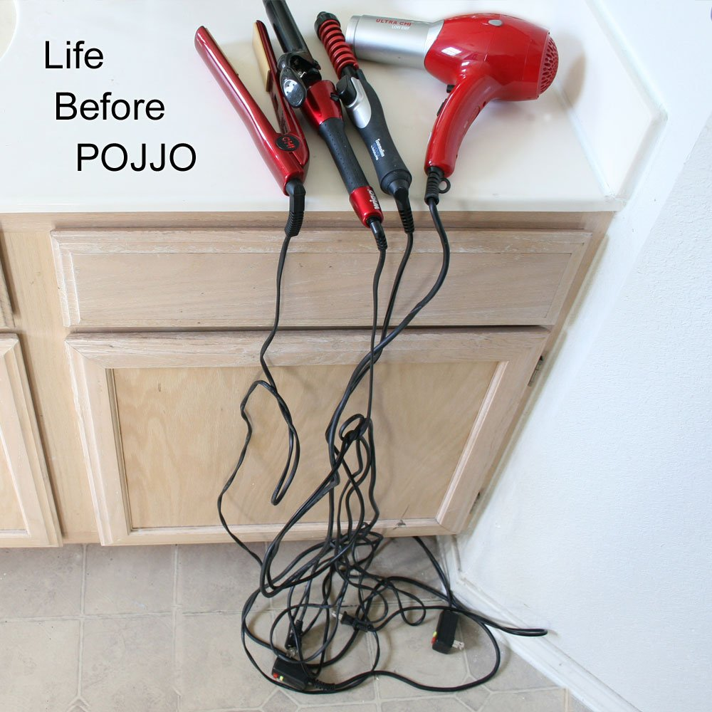 POJJO - Curling Iron, Blow Dryer, and Flat Iron Holder - Wall Mount (Java) by POJJO (Image #3)