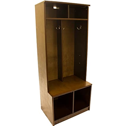Superbe Little Partners Two Cubby Kids Wooden Locker   Six Storage Sections    Durable (Espresso)