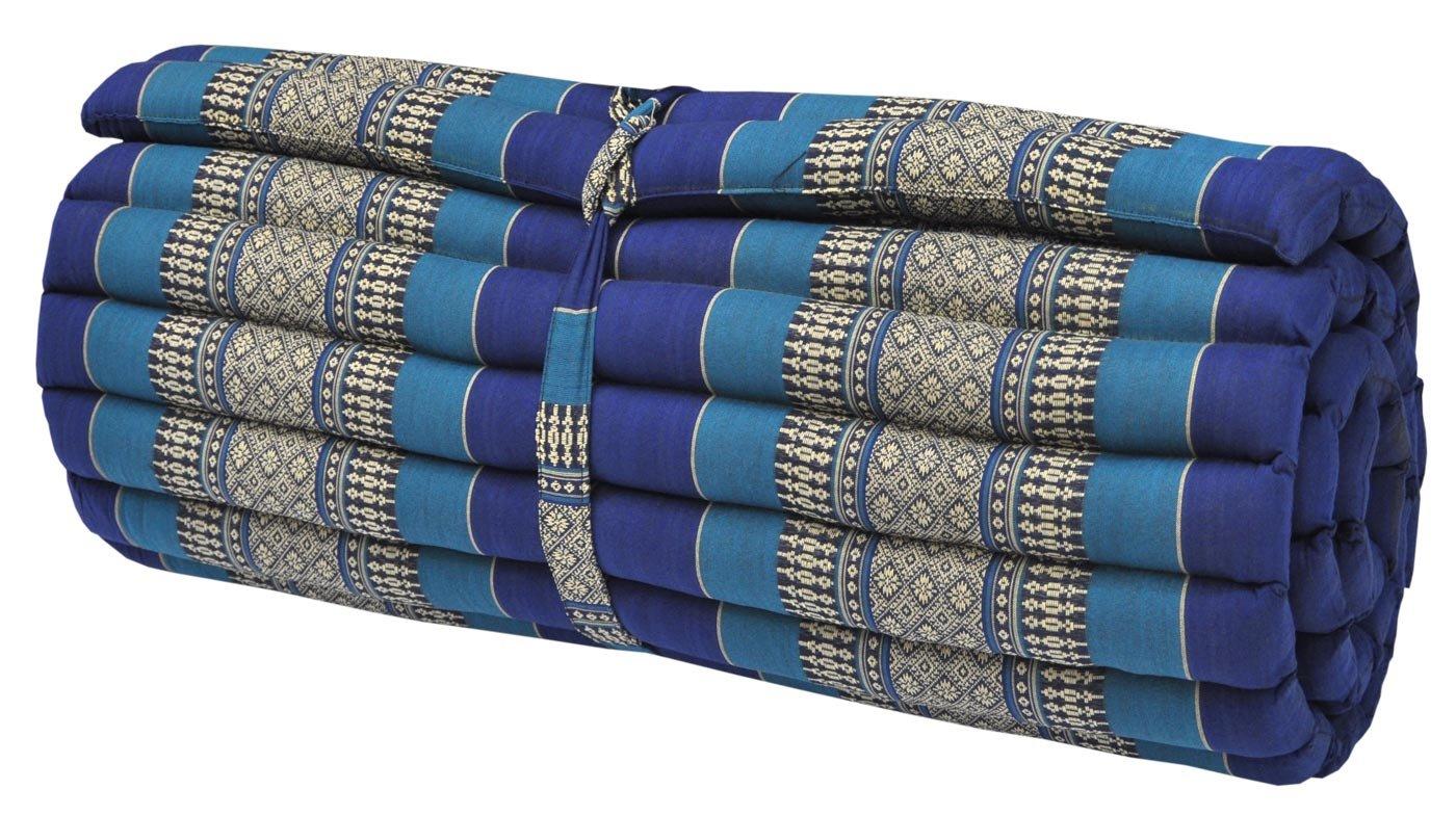 Thai mattress big size (75/180), blue, relaxation, beach cushion, pool, meditation, yoga (82214)