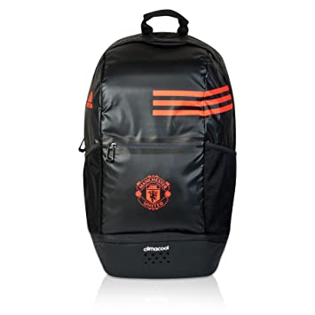adidas Unisex Manchester United Clima Back Pack Club Artwork Accessory Black b2b2718526c70
