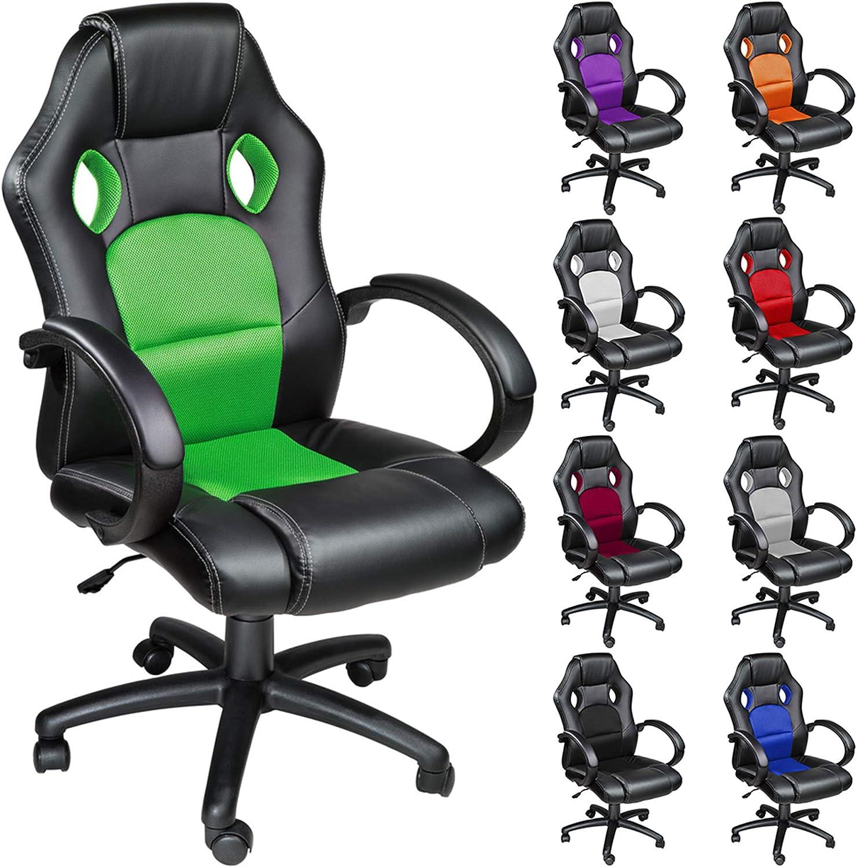 TecTake Silla de escritorio de oficina, Racing - disponible en ...