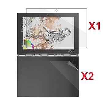 INFILAND Premium HD Clear 1 Pack Protector de Pantalla de Vidrio Templado y 2 Paquetes Sensible y Transparente Protector de Teclado Cover para Lenovo ...