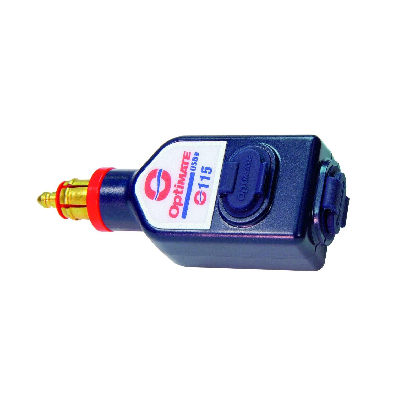 OptiMATE O115 Caricabatterie Auto USB 3300 MA con Spina Bici