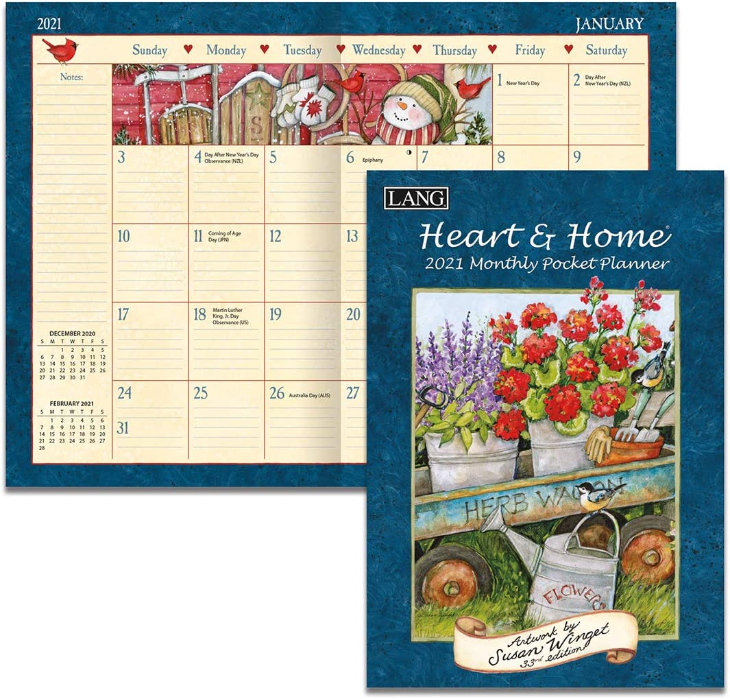LANG Heart & Home 2021 Monthly Pocket Planner (21991003161)