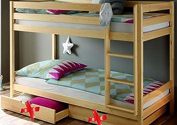 Leiter Schutz Etagenbett : Kinderbett etagenbett hochbett spielbett kiefer natur massiv pfosten