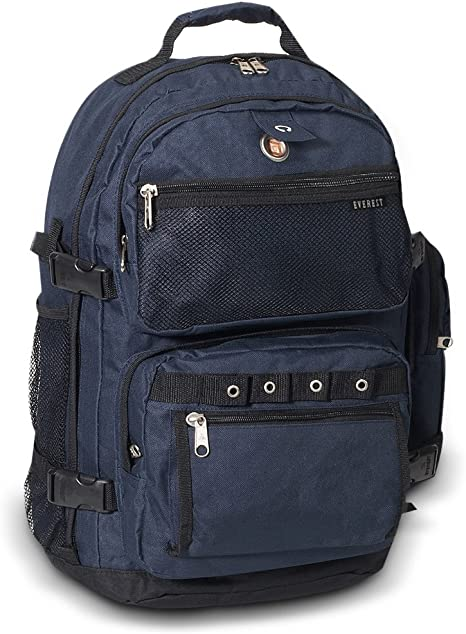 Everest Laptop Backpack 35L 4 Compartments Travel Outdoor Black NEW