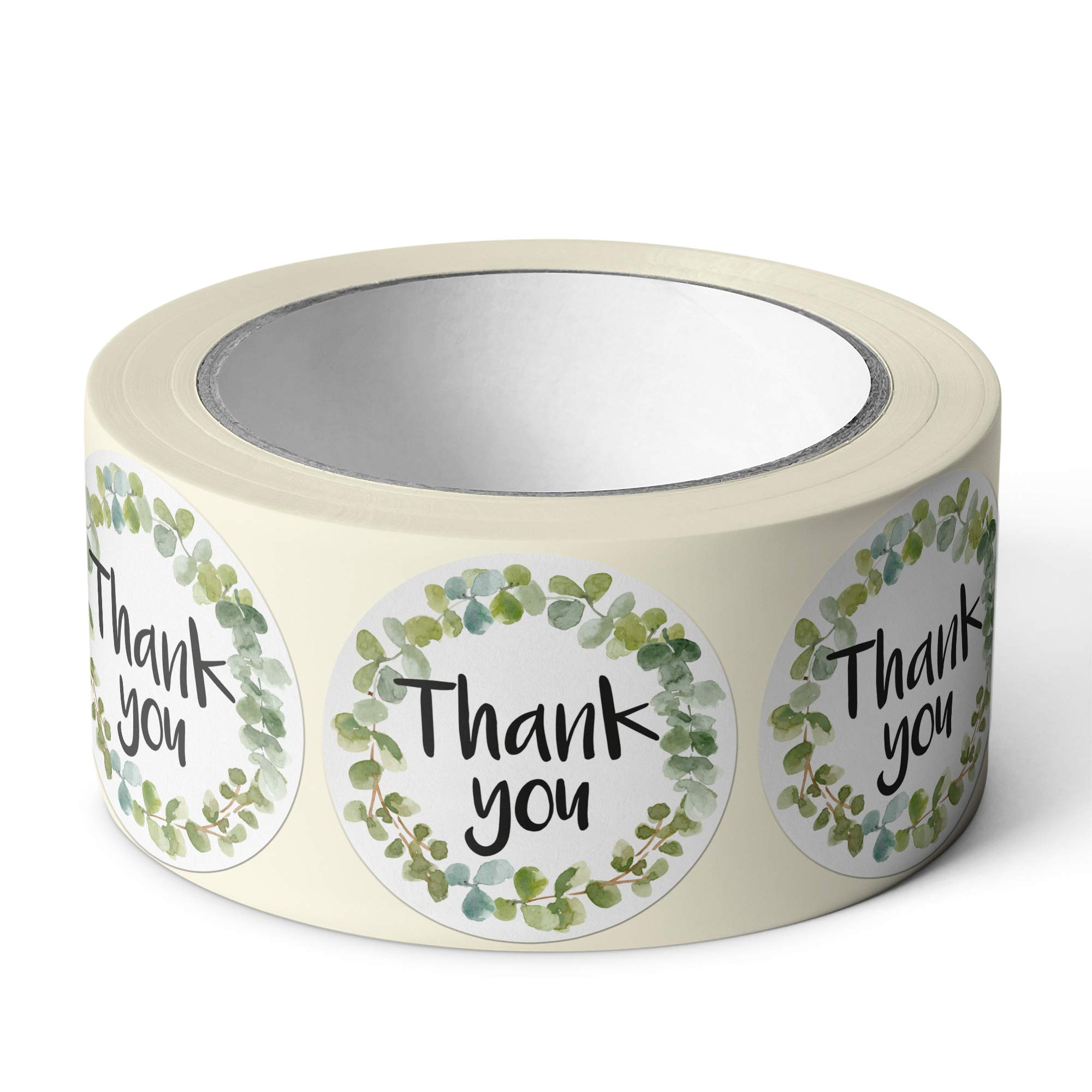 Pebble Penguin Thank You Stickers, 1.5'' (500-Count) - Floral Stickers, Great for Craft Project, Weddings, Events, Birthdays and Baby Showers - Small Business Label Tags for Packages & Merchandise by Pebble Penguin