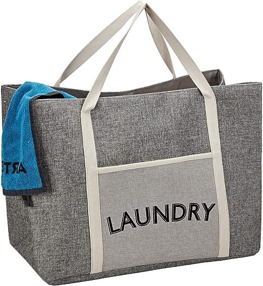 Pop-Up Bolsa De Lavandería Lavado Basket Bin Cesto con asas y bolsillo de almacenamiento de juguete