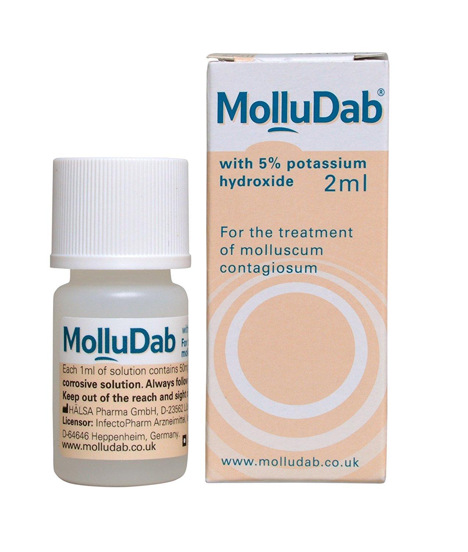 MolluDab 5% Hydroxide Topical Applicator Treatment 2ml Molluscum Contagiosum