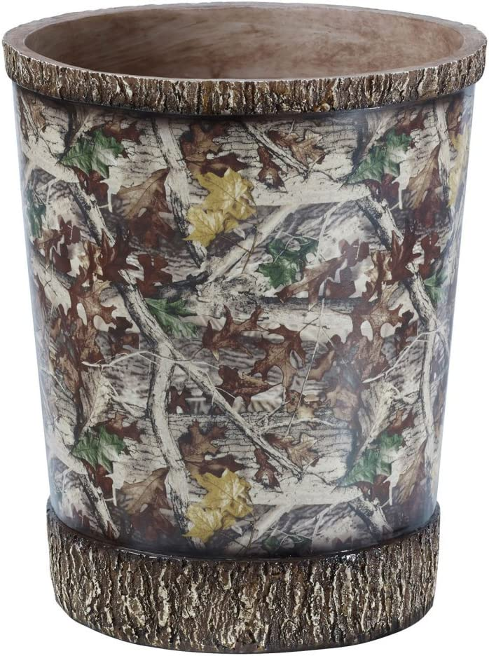 HiEnd Accents WB1001 Camo Waste Basket