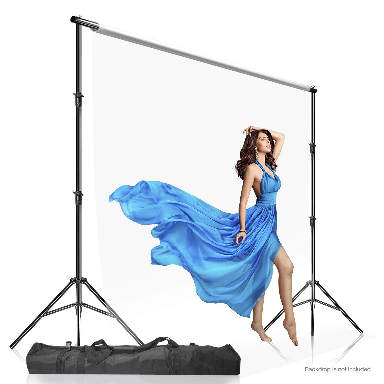 Julius Studio Photo Video Studio 10 ft. Adjustable Muslin Background Backdrop Support System Stand with Carry Bag, JSAG505