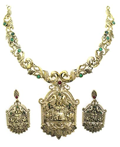 Zaveri Pearls Necklace Set for Women(Multi-Colour)(ZPFK563) Jewellery Sets at amazon