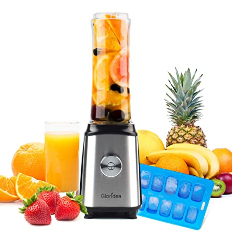 Personal Blender for Shakes and Smoothies - Powerful Drink Mixer with 20 Oz To Go Bottle, Single Use Juicer with Easy One Touch Operation, Great for ...